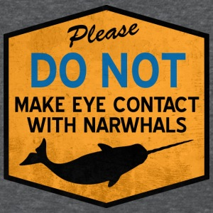 Eye Contact with Narwhals - Vintage Women's T-Shirts - Women's T-Shirt