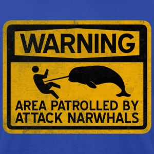 Attack Narwhals - Vintage T-Shirts - Men's T-Shirt by American Apparel
