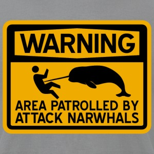 Attack Narwhals T-Shirts - Men's T-Shirt by American Apparel