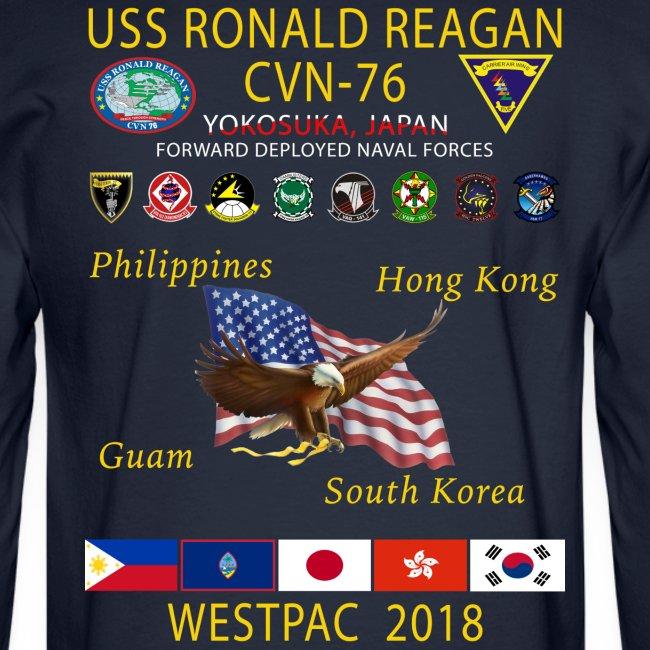 USS RONALD REAGAN CVN-76 WESTPAC 2018 LONG SLEEVE