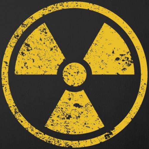 Radiation warning rusted symbol