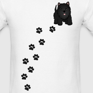 Cute Black Scottish Terrier Puppy Dog - Men's T-Shirt