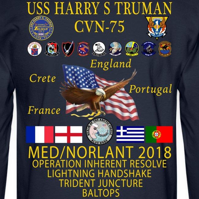 USS HARRY S TRUMAN 2018 LONG SLEEVE CRUISE SHIRT
