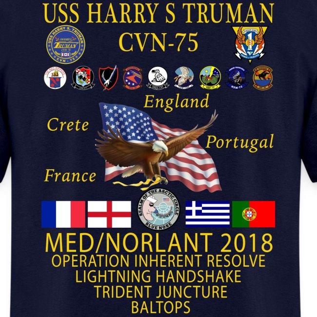 USS HARRY S TRUMAN 2018 CRUISE SHIRT