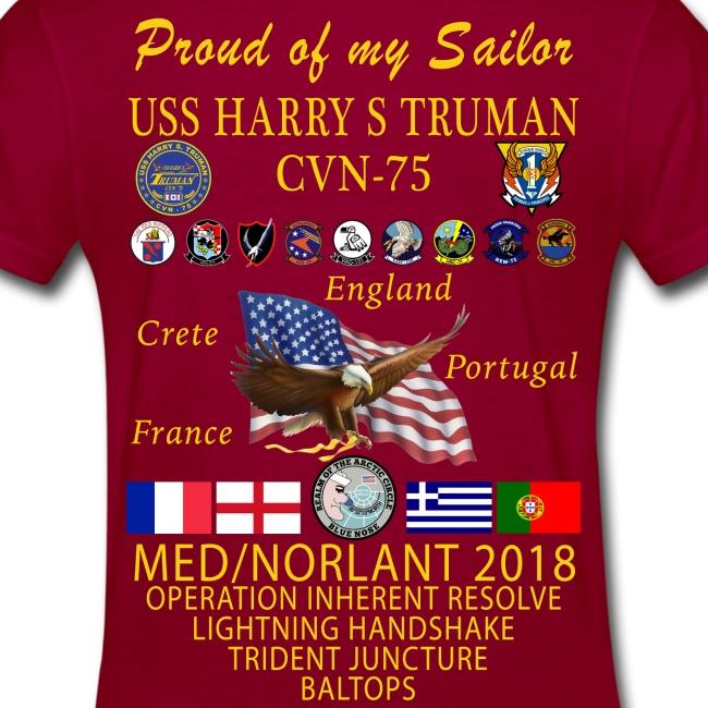 USS HARRY S TRUMAN 2018 WOMENS CRUISE SHIRT - FAMILY EDITION