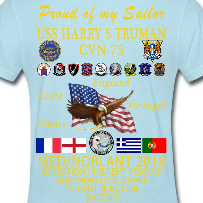 USS HARRY S TRUMAN 2018 WOMENS CRUISE SHIRT - FAMILY EDITION