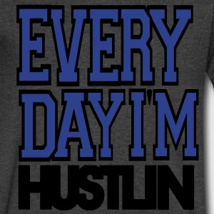 Everyday I'M HUSTLIN T-Shirts - Men's V-Neck T-Shirt by Canvas