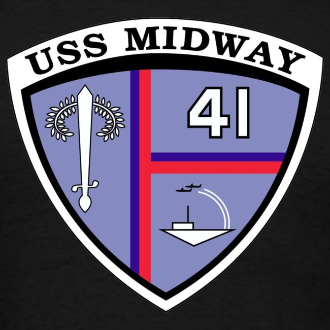 USS MIDWAY CREST BACK PRINT TEE