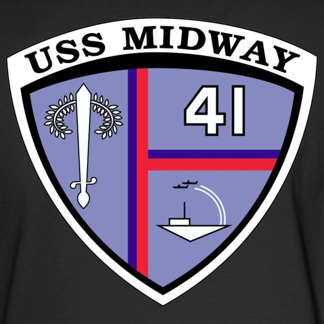 USS MIDWAY CREST BACK PRINT LONG SLEEVE TEE