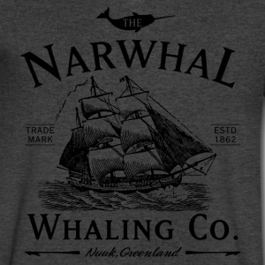 The Narwhal Whaling Company T-Shirts - Men's V-Neck T-Shirt by Canvas