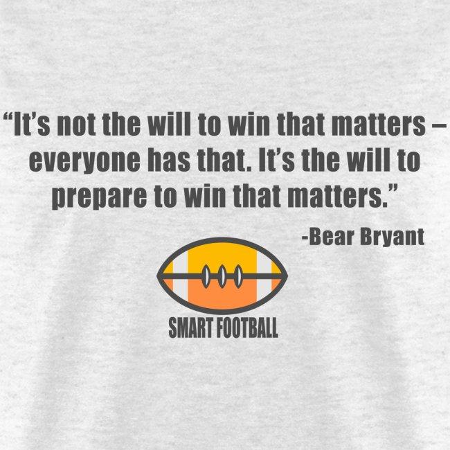 Preparing with Bear Bryant
