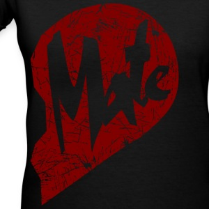 mate - couple Women's T-Shirts - Women's V-Neck T-Shirt