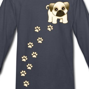 Cute Pug Puppy Dog - Kids' Long Sleeve T-Shirt