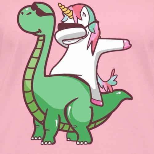 Dabbing Unicorn on Dinosaur