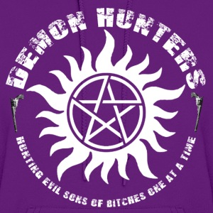 Demon Hunters Colt guns Rocker design white Hoodies - Women's Hoodie