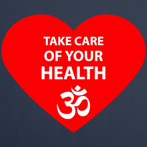 YOGA Symbol Take care of your health Text design