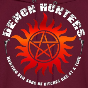 Demon Hunters Colt guns Rocker design white red Hoodies - Men's Hoodie
