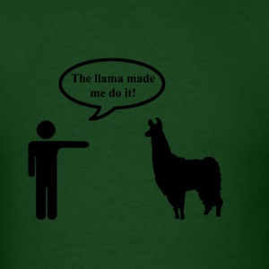 Llama Made Me Do It Men's - Men's T-Shirt