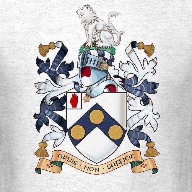 """James Bonds coat-of-arms and family motto """"The world is not enough"""""""