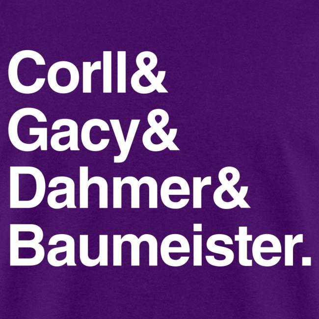 Gay/Bi Serial Killer Names Shirt