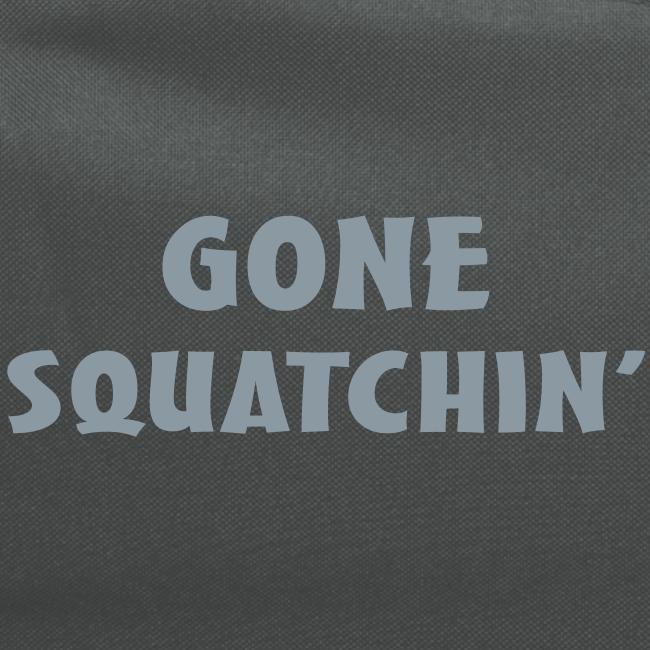 Gone Squatchin' Silver Reflective Bigfoot Sasquatch  Laptop Backpack