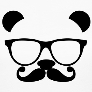 Panda with glasses and mustache Long Sleeve Shirts - Women's Long Sleeve Jersey T-Shirt
