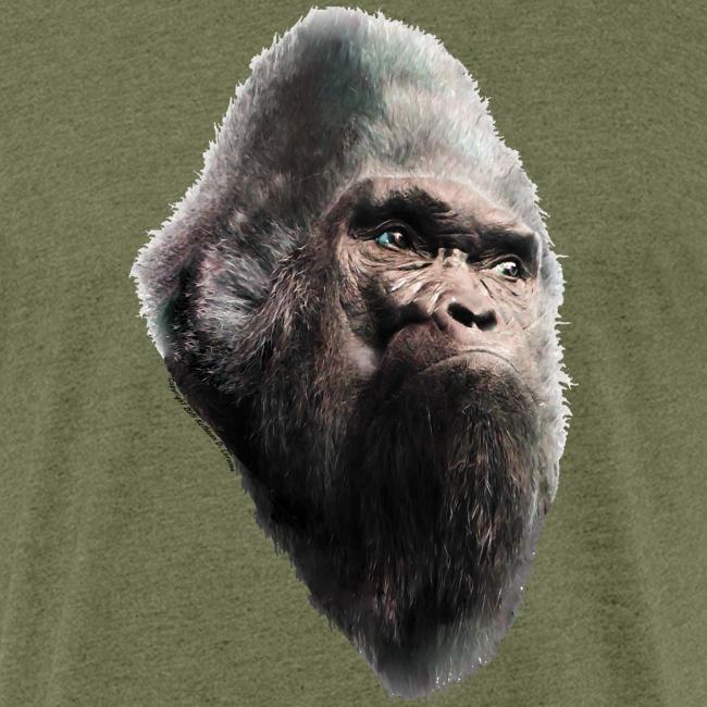 Sasquatch Bigfoot Portrait Vintage Shirt - Heather Fitted Shirt