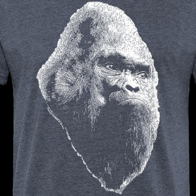 Large Print Vintage Sasquatch Bigfoot Shirt - Heather Colors