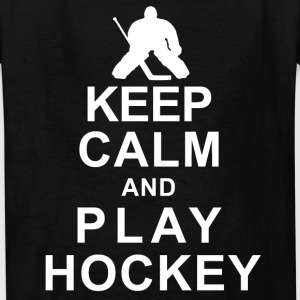 Keep Calm And  Play Hockey Kids' Shirts - Kids' T-Shirt