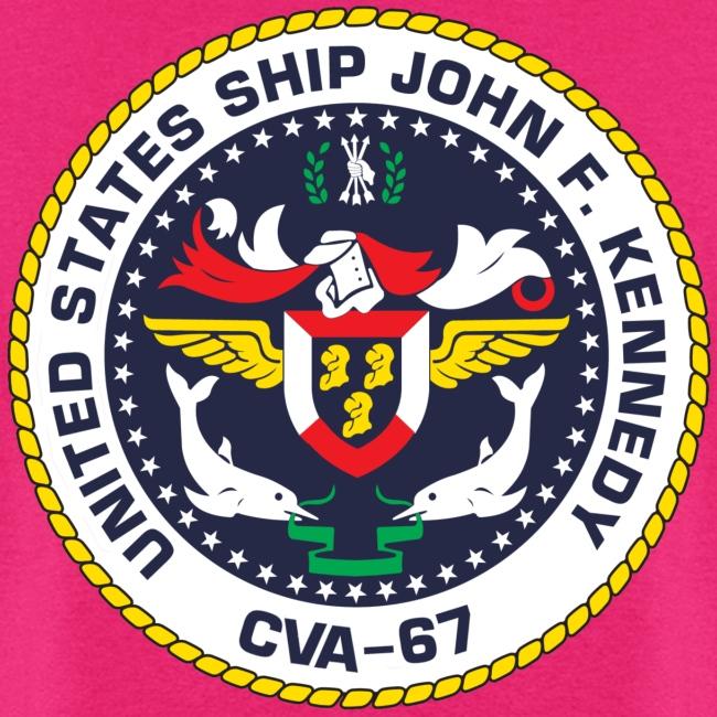 USS JOHN F KENNEDY CVA-67 LOGO SHIRT (BACK)