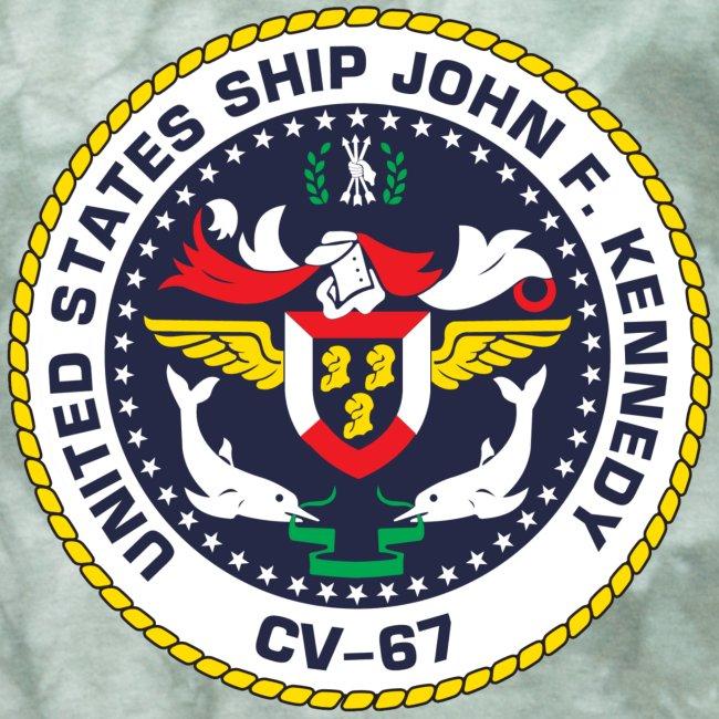 USS JOHN F KENNEDY CV-67 LOGO SHIRT (BACK)