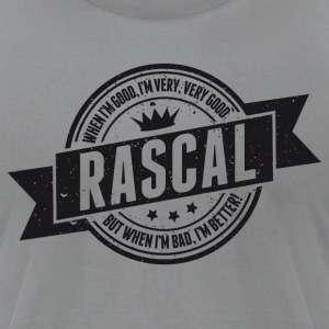 Vintage RASCAL quotes - Good and better! T-Shirts - Men's T-Shirt by American Apparel