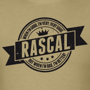 Vintage RASCAL quotes - Good and better! T-Shirts - Men's T-Shirt