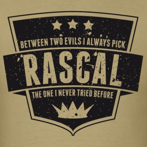Vintage RASCAL quotes - Between two evils T-Shirts - Men's T-Shirt