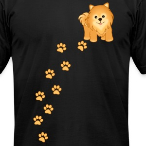 Cute Pomeranian Puppy Dog - Men's T-Shirt by American Apparel