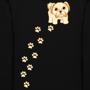 Cute Shih Tzu Puppy Dog Cartoon - Women's Hoodie