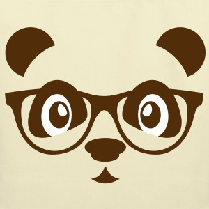 panda with glasses Bags  - Eco-Friendly Cotton Tote
