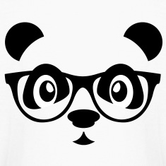 panda with glasses Kids' Shirts