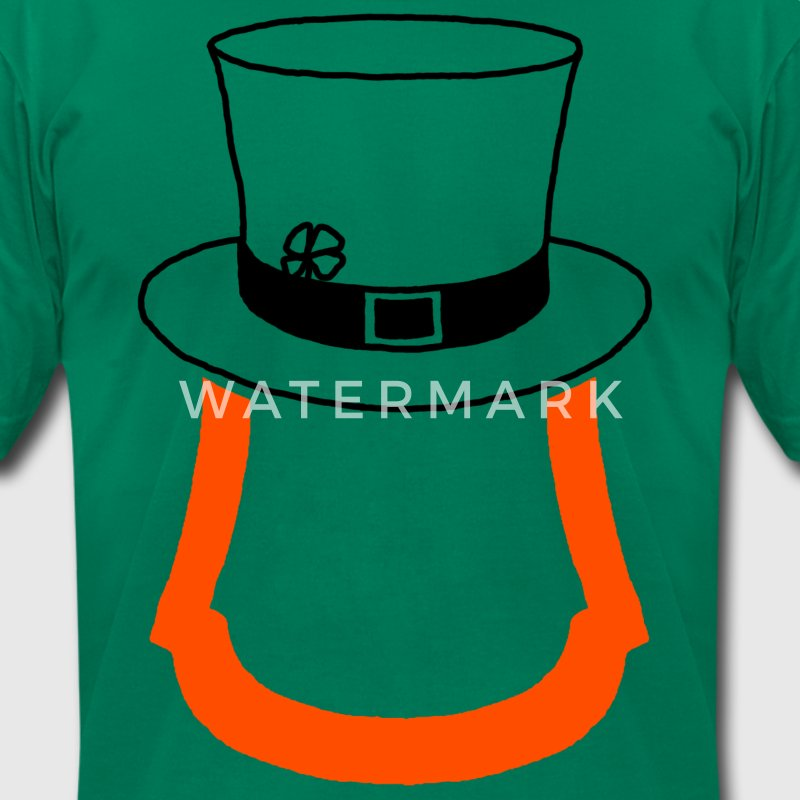 Leprechaun Beard T-Shirts - Men's T-Shirt by American Apparel