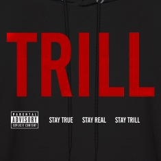 TRILL - Hooded Sweatshirt (White)