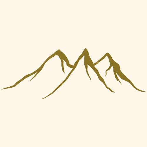 Mountains, Wildlife, Nature, Outdoor, Gold Print