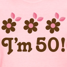 50th Birthday (Daisy Flower) T Shirt | Birthday Sh