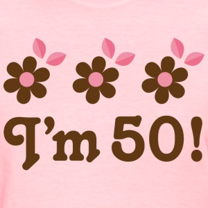50th Birthday (Daisy Flower) T Shirt | Birthday Sh - Women's T-Shirt