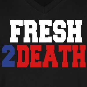 FRESH2DEATH T-Shirts - Men's V-Neck T-Shirt by Canvas
