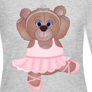 Teddy Bear Ballerina - Women's Long Sleeve Jersey T-Shirt