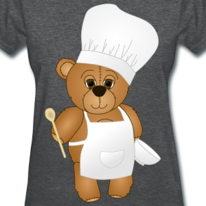 Cute Chef Teddy Bear - Women's T-Shirt