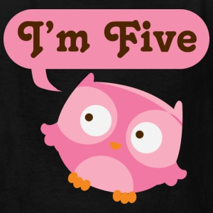 5th Birthday Owl Kids' Shirts - Kids' T-Shirt
