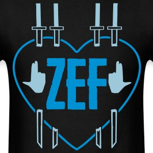 zef_heart T-Shirts - Men's T-Shirt