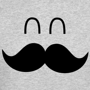 Funny Mustache Face Long Sleeve Shirts - Crewneck Sweatshirt