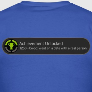 Achievement Unlocked - Date with real person - Men's T-Shirt